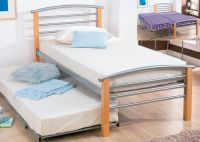 Guest/single option only available with mattresses,  Lift and lock action for height. A fabulous,