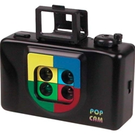 The unusual 10cm camera uses ordinary 35mm film but takes four mini pictures of a subject (in rapid