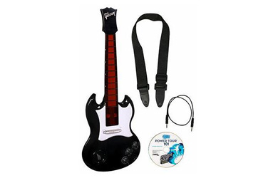 The Power Tour Electric Guitar puts you on the high-tech highway to musical superstardom!