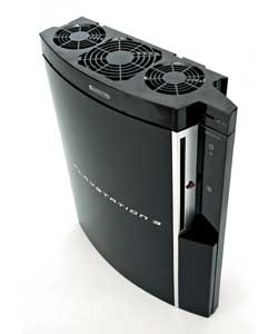 Keeps your Playstation 3 cool during use.USB powered with adjustable fan speed.Size (H)10.5, (W)27.5