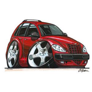 Unbranded Pt Cruiser Red T Shirt on Red Chrysler Pt Cruiser Toy