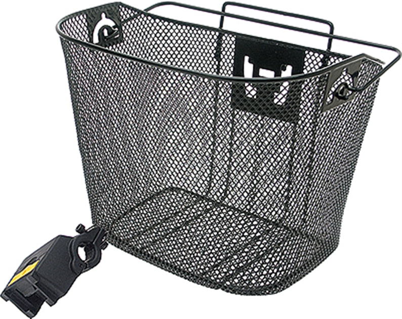 Vinyl coated alloy mesh construction - Fold-away handle for carrying when off-bike - Includes KWIX