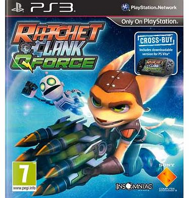 Its time to call in the Qforce with Ratchet and Clank - Qforce. Suitable for the PS3. Take your star spanning duo on another exciting story-based adventure. which marks a return to classic third-person co-op action. Enjoy classic Ratchet gameplay wit