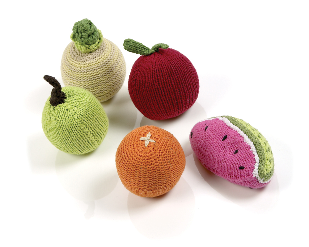 These adorable, hand-knitted, 100 cotton rattles will delight your baby, and if our experience is an