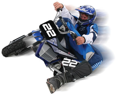 The Razor Dirt Rocket is a mini motocross electric bike with superb off-road performance! It has