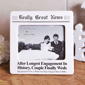 Unbranded Really Great News Longest Engagement Photo Frame