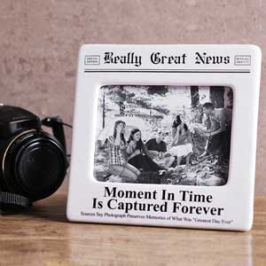 Unbranded Really Great News Moment in Time Photo Frame