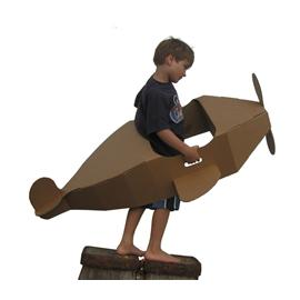 Unbranded Recycled Cardboard Aeroplane