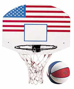 Pro-Action Basketball Ring/Net/Ball and Backboard