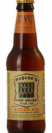 Harkening back to old world brewing styles, Roscoe™s Hop House uses the highest quality malts and hops to bring forth this smooth, bright-flavored Amber Ale.