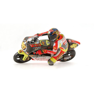 Minichamps has released a 1/12 Rossi riding figure in a cornering pose from the 1999 season.