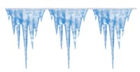 Give your place a touch of frost indoors and out with this very long banner of icicles. This looks w