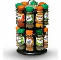 Made by Schwartz, the masters of seasoning, this selection of 16 herbs and spices is accompanied by a two-tier rack to keep each glass bottle neatly stored away for easy access and a tidy kitchen. The spice rack comes in black with a chrome-finished