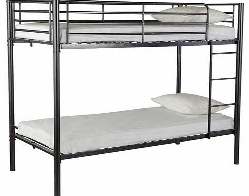Ideal for growing families or as an extra bed for when friends come to stay. the simple design of the Sidney bunk bed is both durable and modern. This option has a sleek metallic design in black and is a practical choice for the modern home. The only