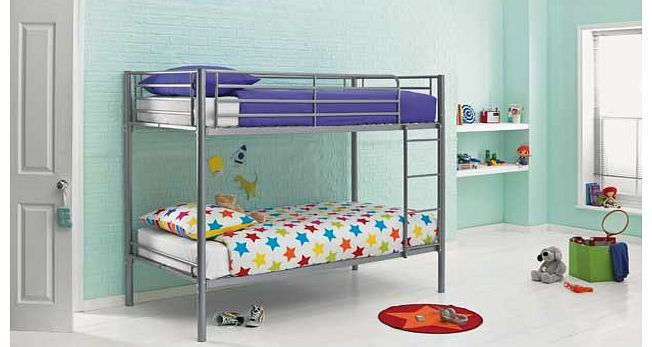 Ideal for growing families or as an extra bed for when friends come to stay. the simple design of the Sidney bunk bed is both durable and modern. This option has a sleek metallic design in silver and is a practical choice for the modern home. The onl