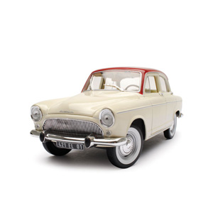 Unbranded Simca P60 1961 - White/red 1:18