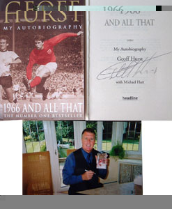 A frank and sometimes controversial autobiography by the England 1966 hat-trick hero, Sir Geoff Hurs