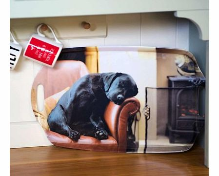 Sleeping Labrador TrayThis beautiful kitchen/drinks tray is printed with a very cute, snoozing black Labrador puppy. Show this tray to anyone and I guarantee they will go Awwww!The Sleeping Labrador Tray will make a lovely present for both general do