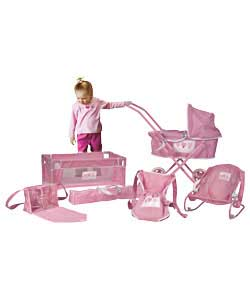 Only at Argos. Mini Pram: Lovely first dolls; pram with adjustable hood and removable pram cover
