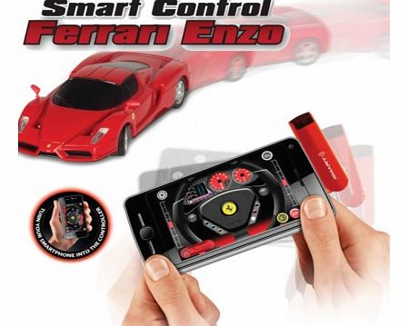 Smartphone Controlled Ferrari EnzoIts FAST, its COOL, its a miniature Ferrari Enzo remote controlled car.This highly detailed 1:50th scale car is easy to play with and control, using the FREE to download Driving App. Turn a smartphone, iPod touch, iP