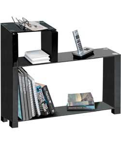 sofa side storage unit black gloss and glass review compare prices buy online. Black Bedroom Furniture Sets. Home Design Ideas