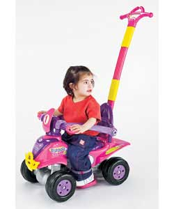 This Quad can be used in several positions:Rocker.Rocker with detachable parental handle.Baby
