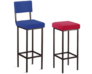 High stool design ideal for use at tall desks and workbenches. Available with or without coordinatin
