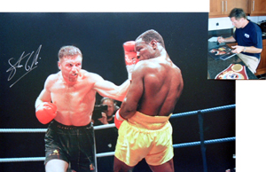 Limited edition - Steve Collins v Chris Eubank signed photo We are delighted to announce that the gr