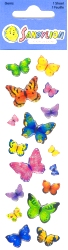 17 fantastic butterfly gem stickers of varying siz