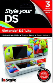 Design and print your own unique skins at home. Personalise the inside and outside of your Nintendo DS Lite. Use your own pics and photos or create your own unique design with the software. These skins are made using a d... (Barcode EAN=5031366009289