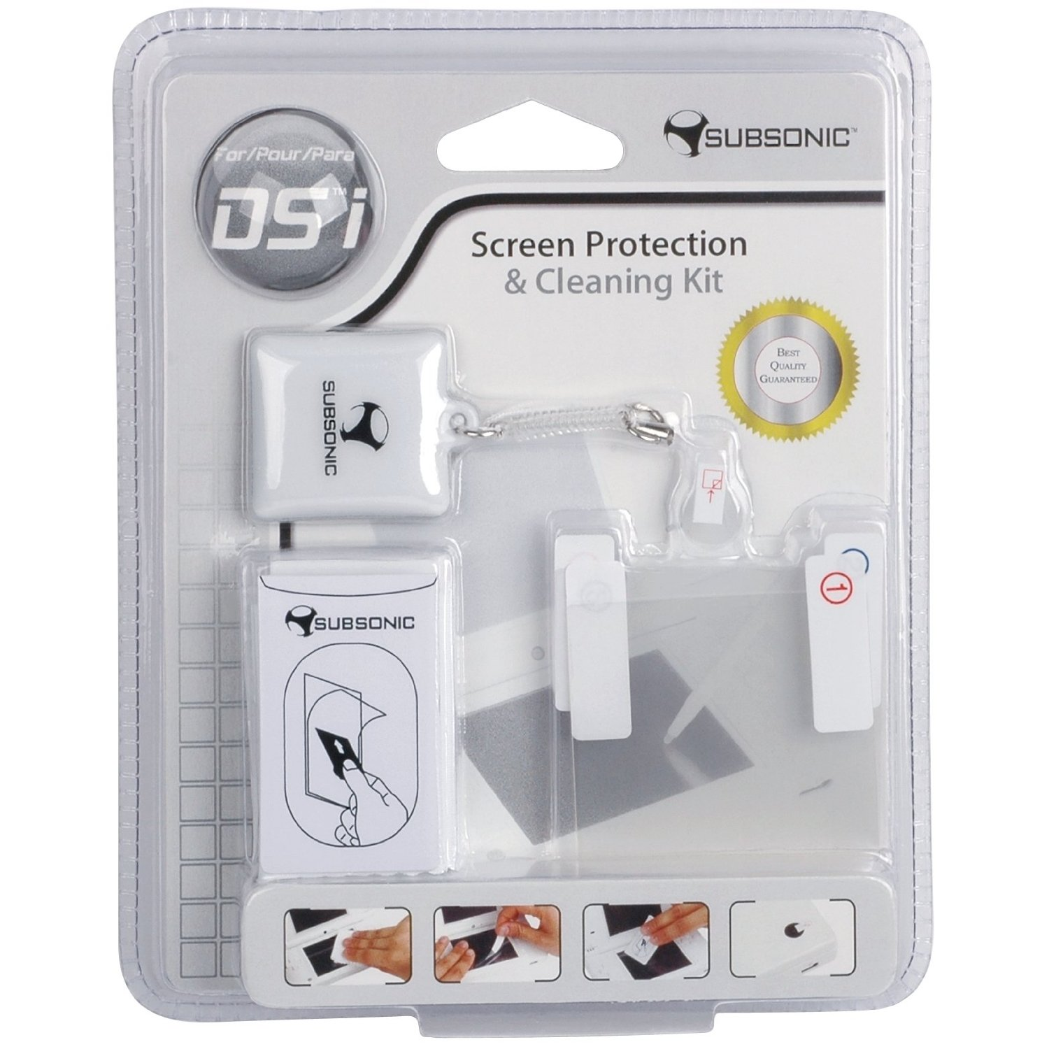 2 air-bubble free high quality screen protectors for DSiProtect against scratches compatible with Touch Screen re-adjustableCamera lens protector for DSiMicrofiber cleaning cloth against dust and finger marksMini anti-fi... (Barcode EAN=3760137145780