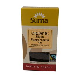 Unbranded Suma Organic Whole Black Peppercorns - 30g