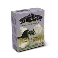 Critter Bath Powder is the all natural mountain pumice in a fine dust grade to keep your critter cle