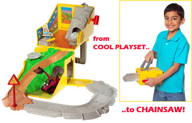Open this 2 in 1 Bob the Builder playset! Double roleplay fun!