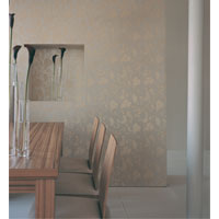 A floral wallpaper which evokes the botanical moti