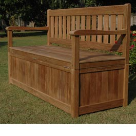 This 5ft storage bench is an ideal solution for storing garden accessories such as garden furniture