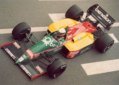 Teo Fabi in the Benetton 187 from the Monaco 1987