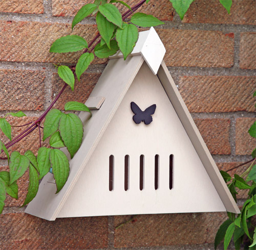 Encourage butterflies into your garden with this wall mounted Butterfly hibernation house.