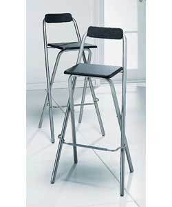 Unbranded Theo Pair of Folding Bar Stools