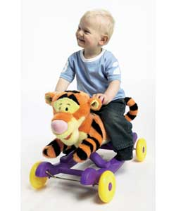 Tigger rocking base with rolling wheels and sound. Tigger talks and with Tiggers song. Uses 2 x AA