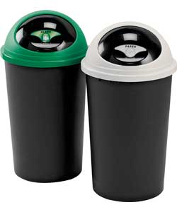 Unbranded Tontareli 25 Litre Recycle Bin Twin Set