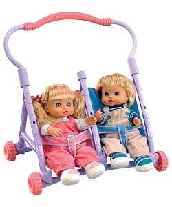 Take your Too Cute Twins with you wherever you go in this gorgeous pushchair! Just strap your twins