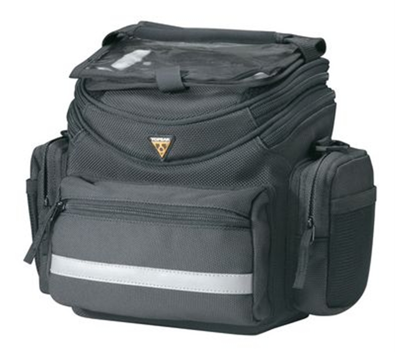 Highly featured, medium sized Handlebar bag at an affordable price. Features: Positive locking,