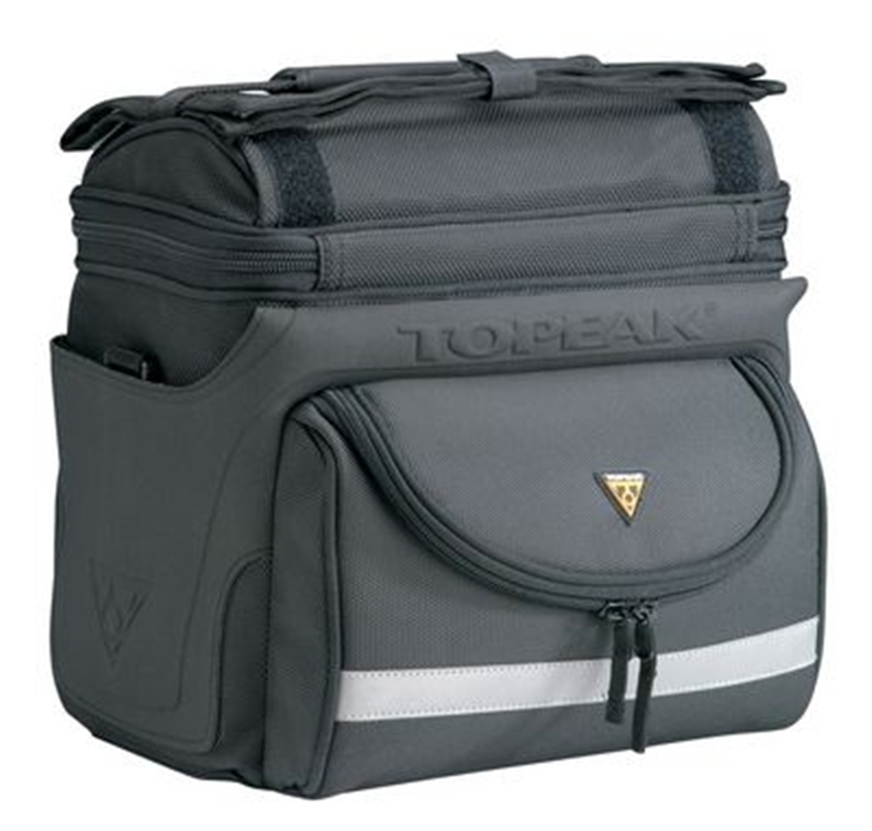 Full featured bag for extended touring, commuting or day trips. Features: Positive locking, quick