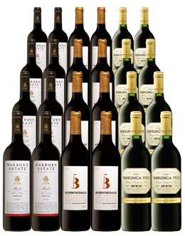 Rich generous flavours from Australia`s best winemakers - a spectacular Bulk Deal.