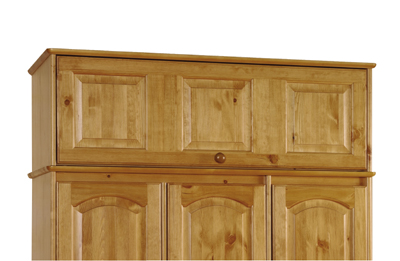 Pine triple wardrobe top box