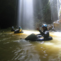 Tube, crawl, float, swim and scramble along the underground river on this fun and challenging advent