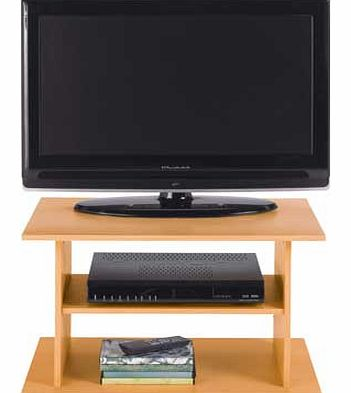 This simple oak effect TV stand supports a TV up to 20 inches and provides space for a set top box or DVD player. A great value for money unit. ideal for a smaller room. Collect in store today. Size H38. W60. D40cm. Weight 30kg. 1 shelf. Height betwe