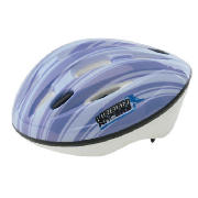This Tesco childrens helmet comes in blue and is made from PVC and white EPS. The helmet has 10 hole