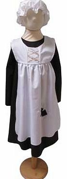 A Victorian urchin smock style dress designed with an integral apron and also a mop cap. Machine washable Suitable for height 116 to 128cm. For ages 6 years and over. Polyester. EAN: 5014568225268. WARNING(S): Not suitable for children under 3 years
